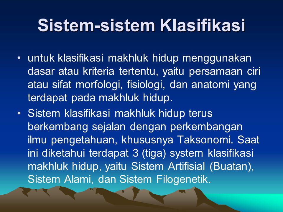 Sistem-sistem Klasifikasi