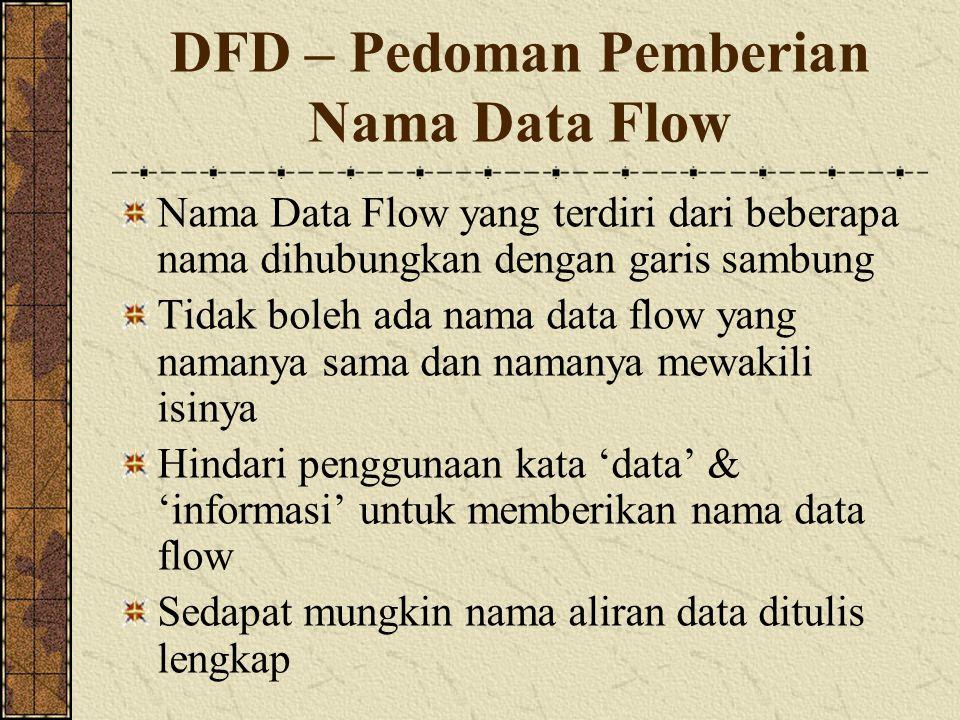 DFD – Pedoman Pemberian Nama Data Flow
