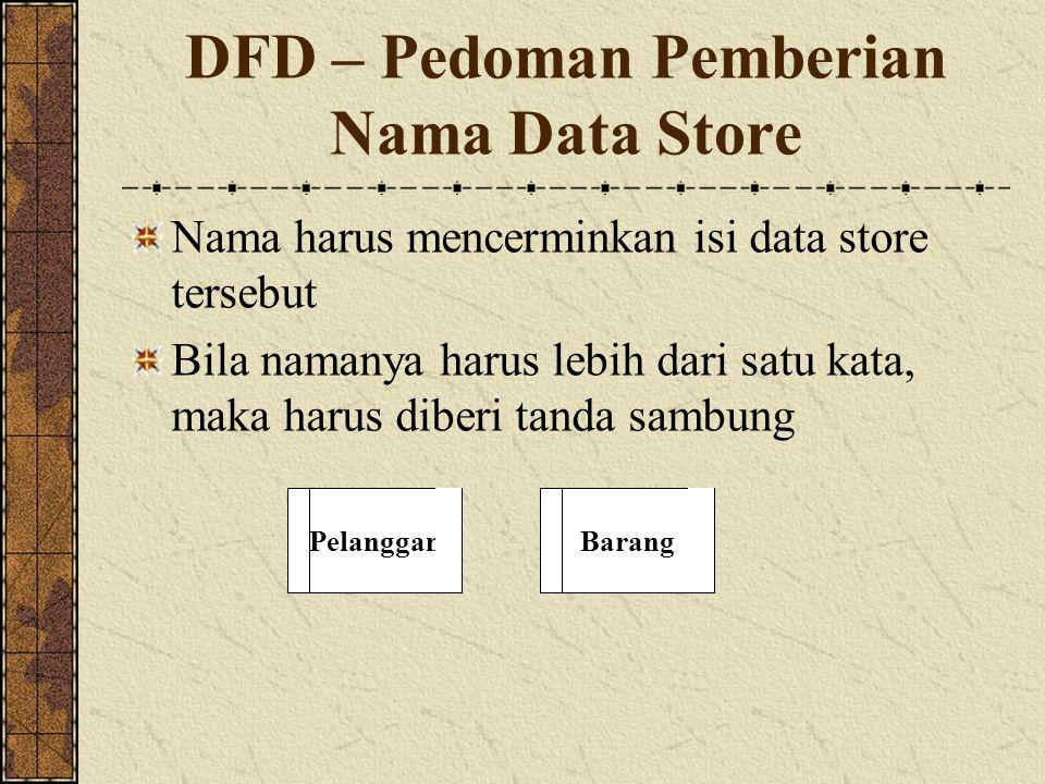 DFD – Pedoman Pemberian Nama Data Store