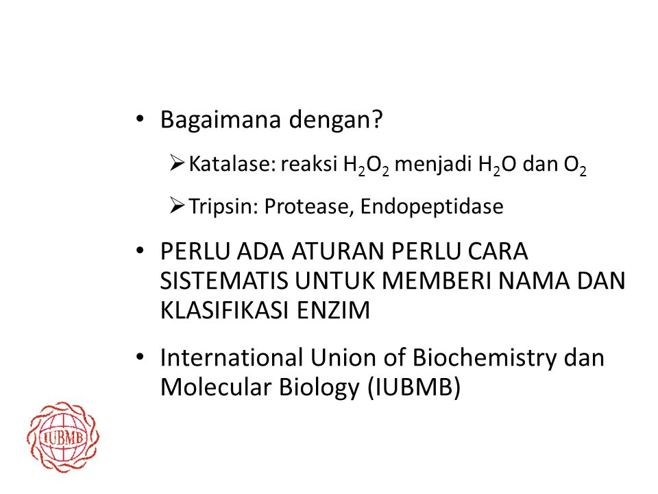 International Union of Biochemistry dan Molecular Biology (IUBMB)