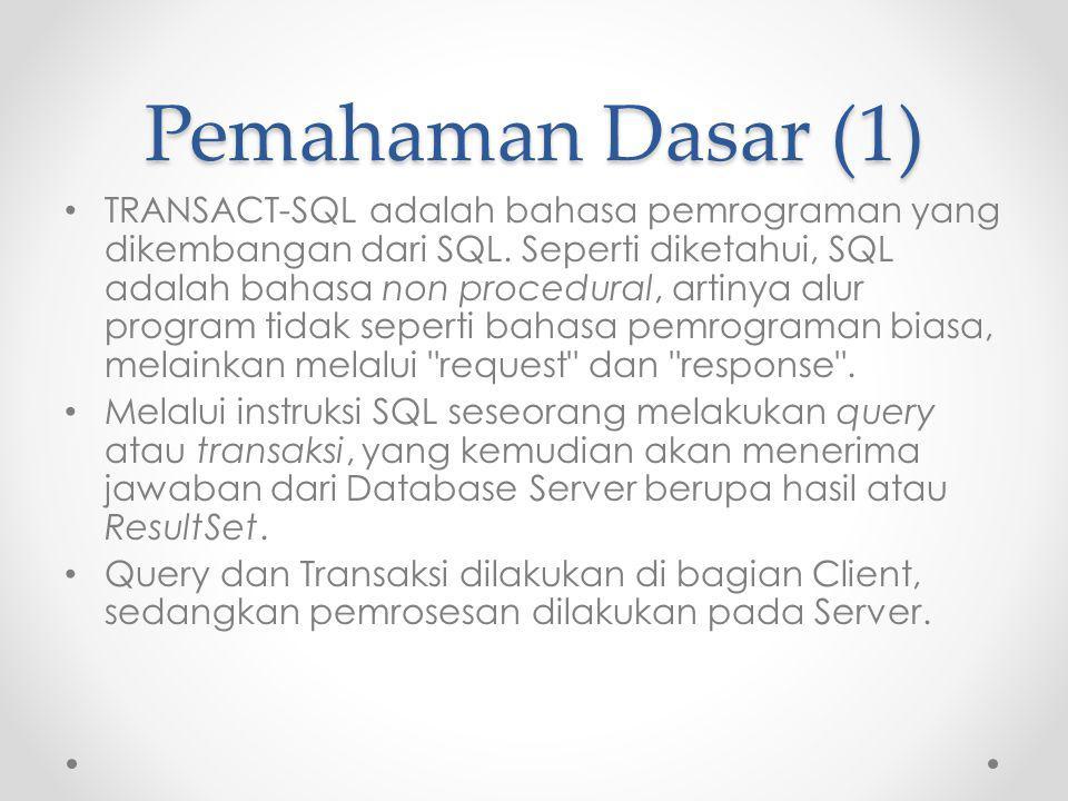 Pemahaman Dasar (1)
