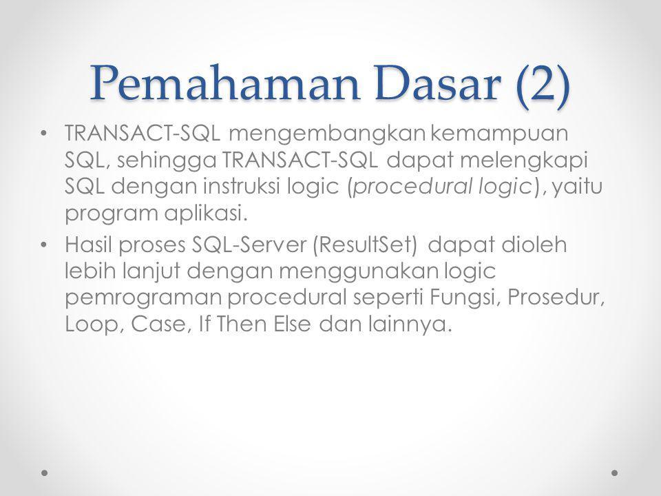 Pemahaman Dasar (2)