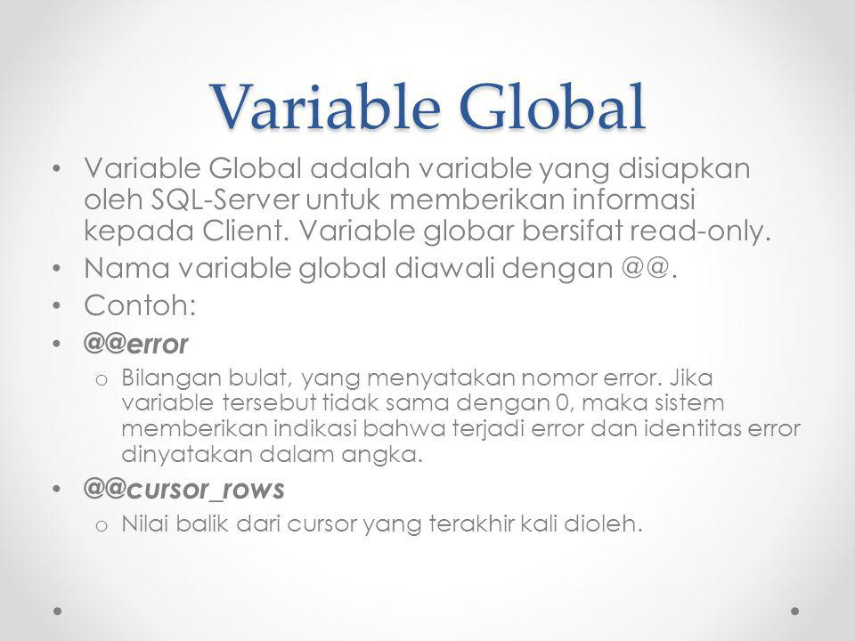 Variable Global