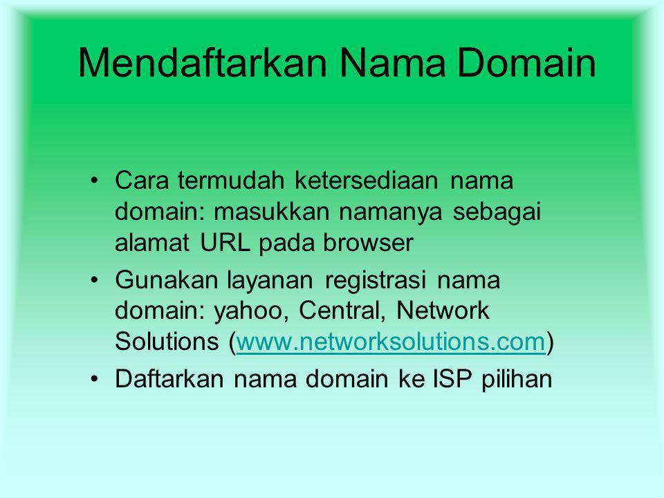Mendaftarkan Nama Domain