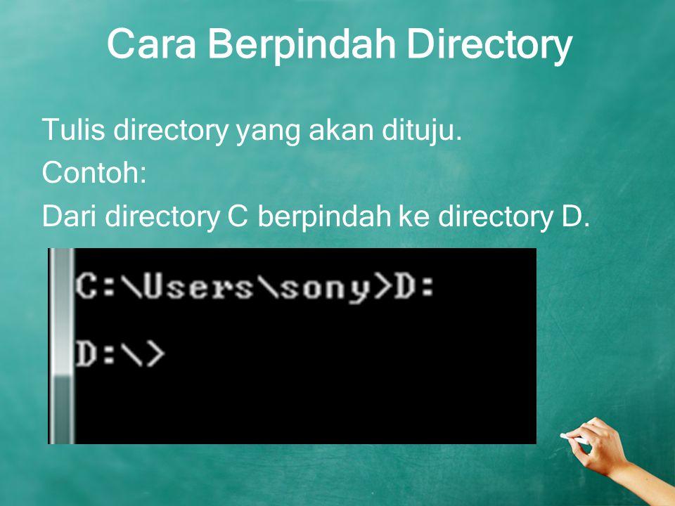 Cara Berpindah Directory