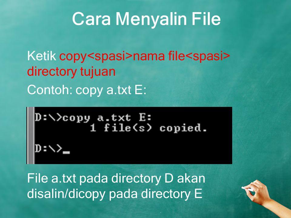 Cara Menyalin File