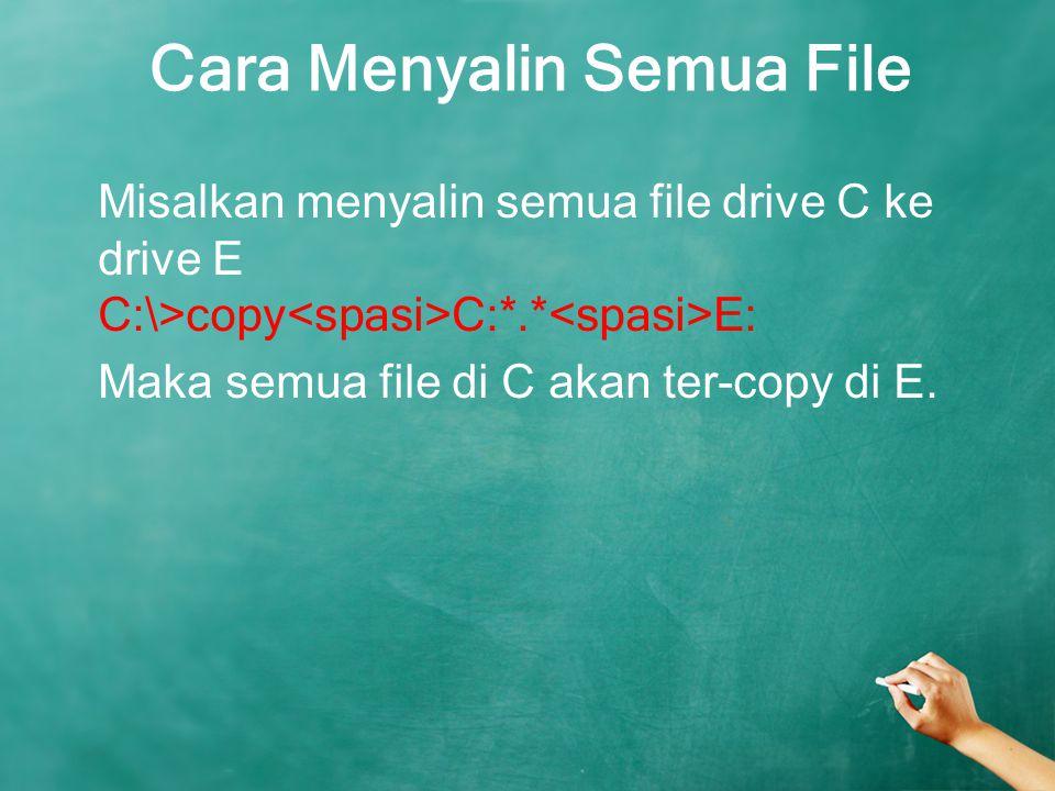 Cara Menyalin Semua File