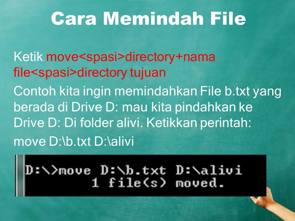 Cara Memindah File