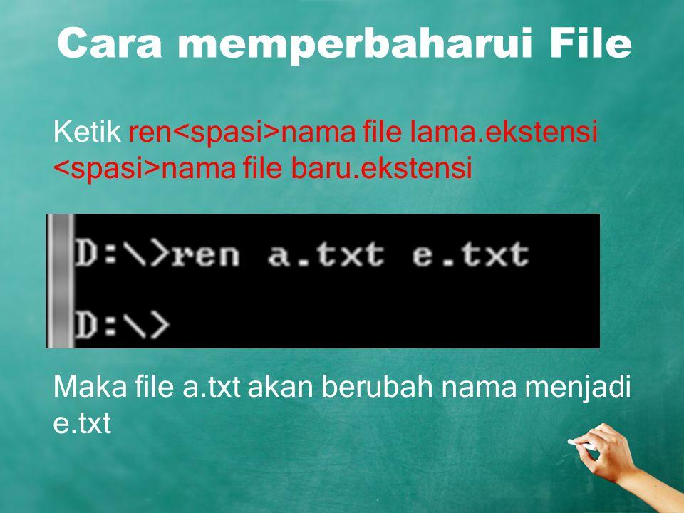 Cara memperbaharui File