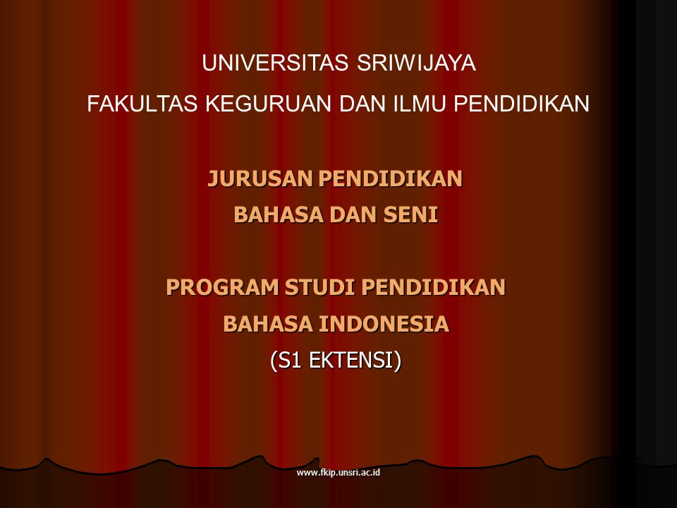 PROGRAM STUDI PENDIDIKAN