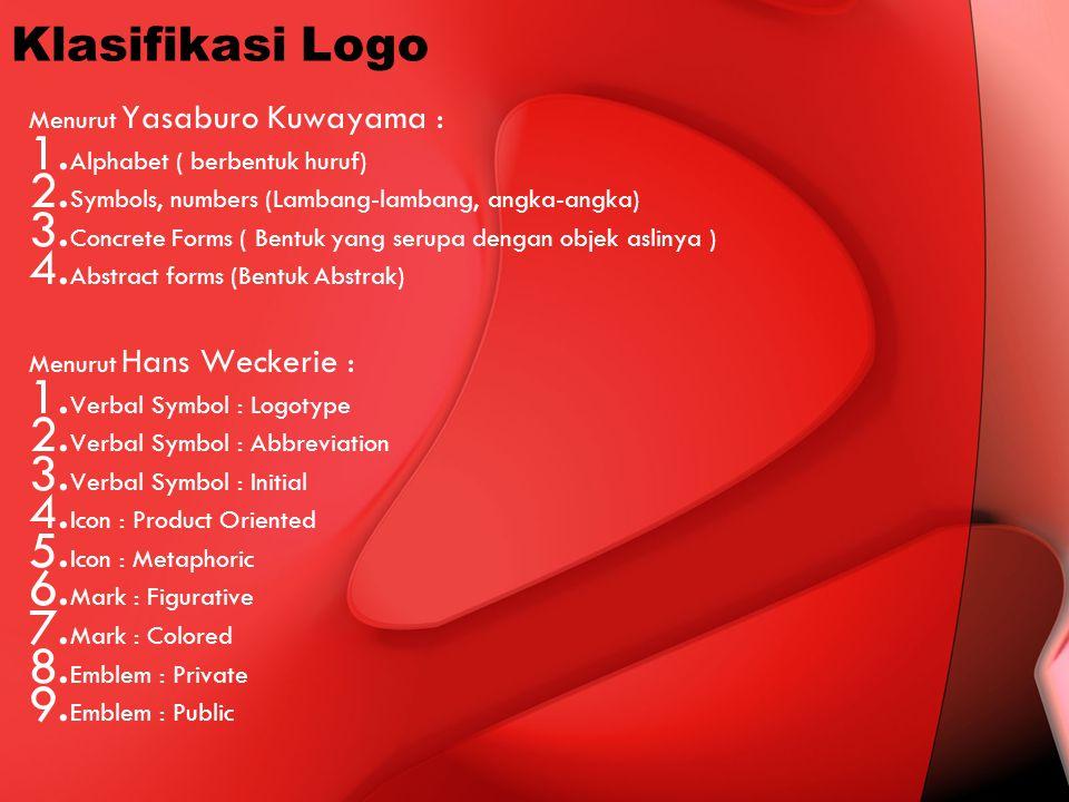 Klasifikasi Logo Menurut Yasaburo Kuwayama :