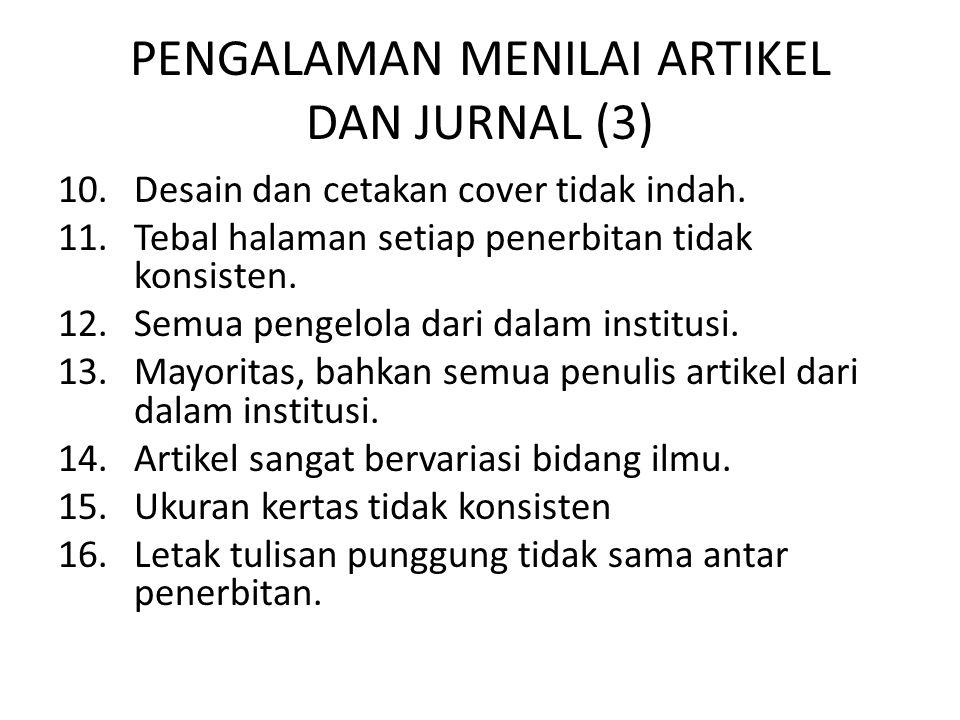 PENGALAMAN MENILAI ARTIKEL DAN JURNAL (3)