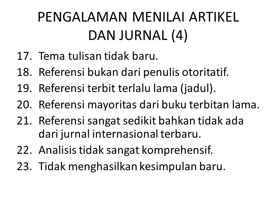 PENGALAMAN MENILAI ARTIKEL DAN JURNAL (4)