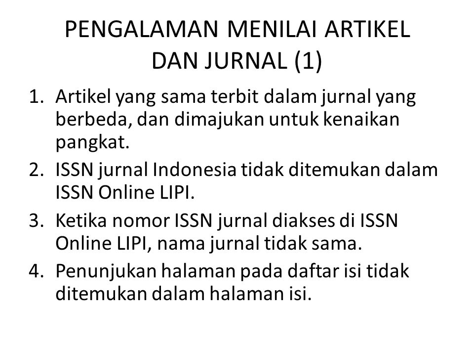 PENGALAMAN MENILAI ARTIKEL DAN JURNAL (1)