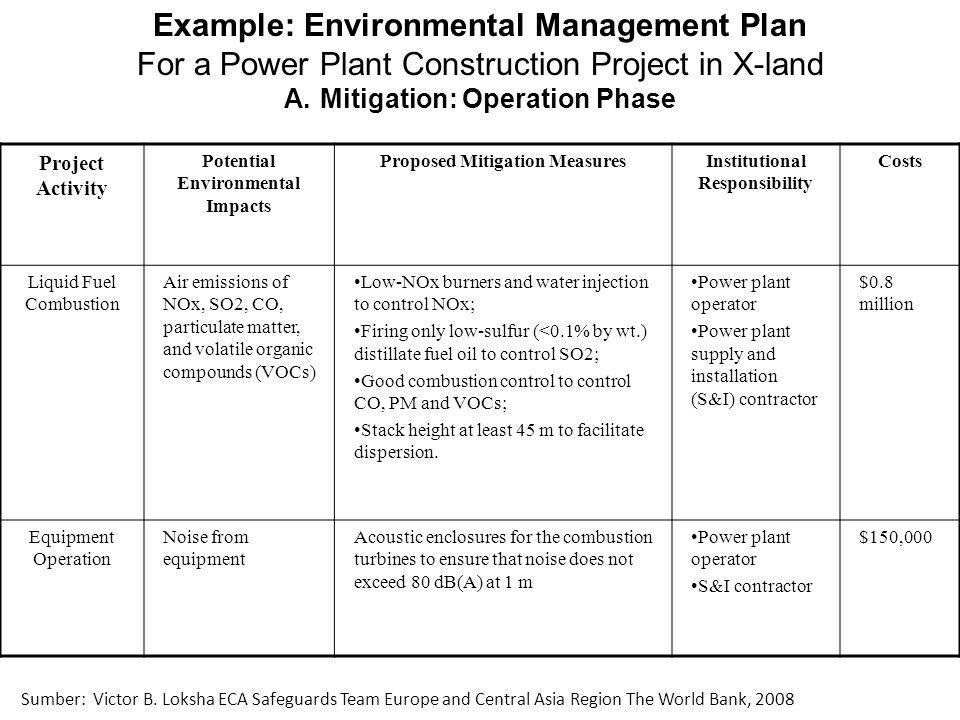 Example: Environmental Management Plan