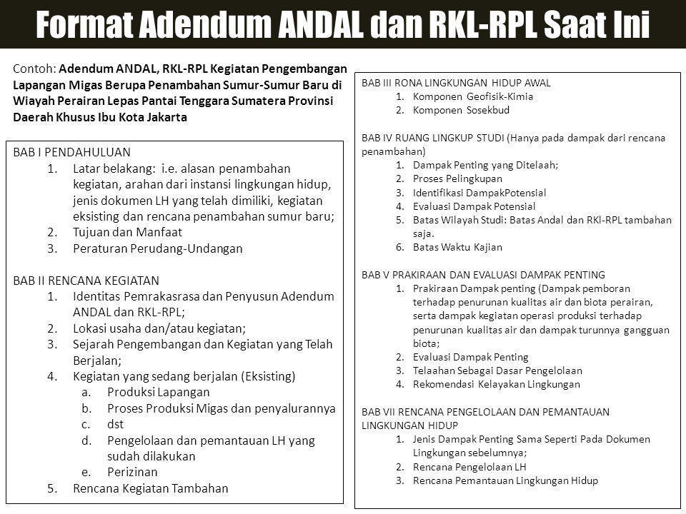 Format Adendum ANDAL dan RKL-RPL Saat Ini