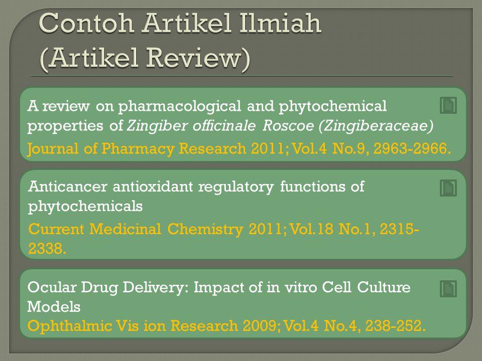 Contoh Artikel Ilmiah (Artikel Review)