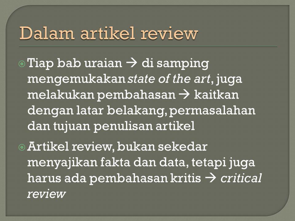 Dalam artikel review