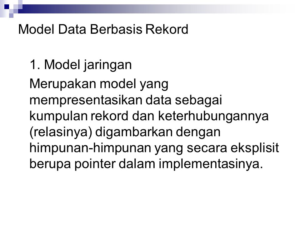 Model Data Berbasis Rekord 1