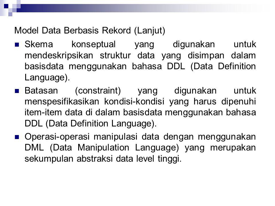Model Data Berbasis Rekord (Lanjut)