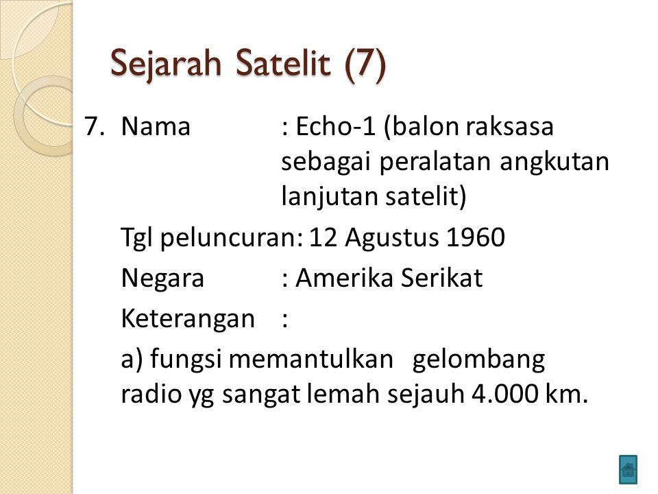 Sejarah Satelit (7)