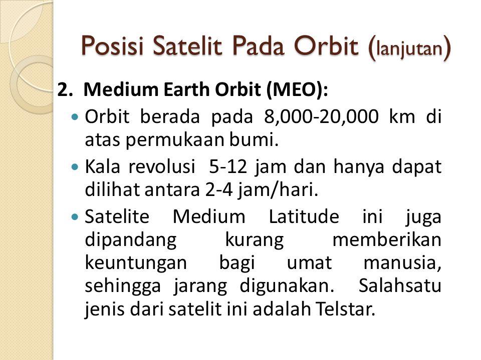 Posisi Satelit Pada Orbit (lanjutan)
