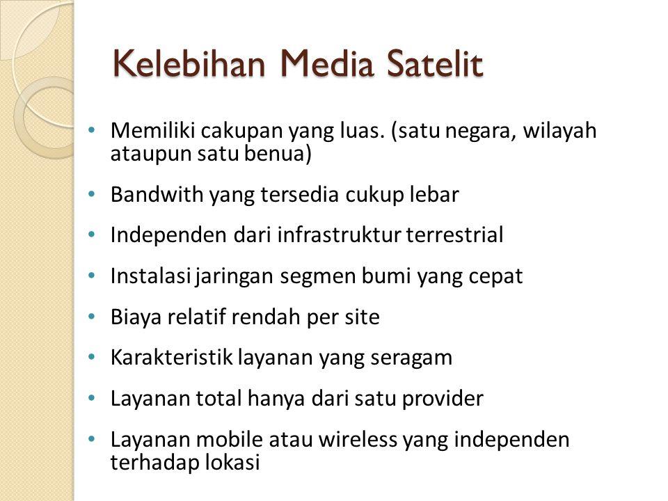 Kelebihan Media Satelit
