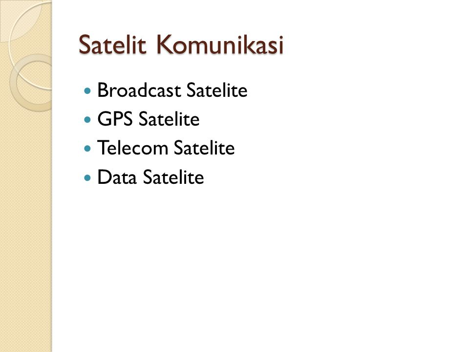 Satelit Komunikasi Broadcast Satelite GPS Satelite Telecom Satelite