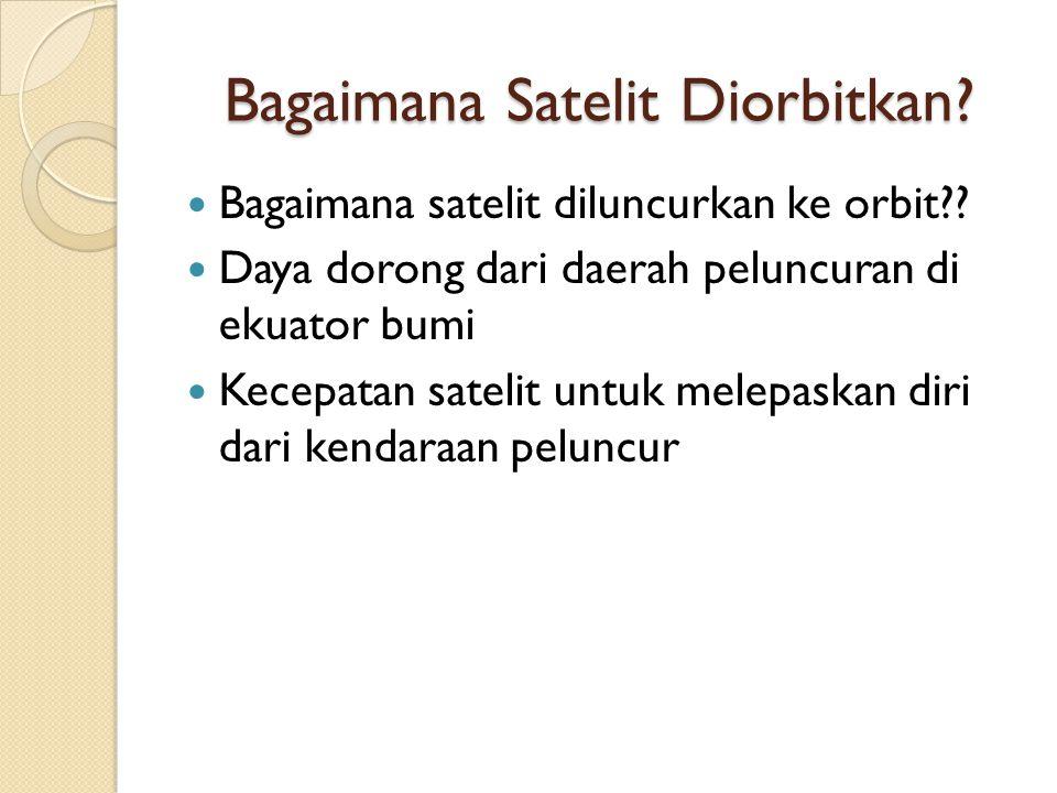 Bagaimana Satelit Diorbitkan