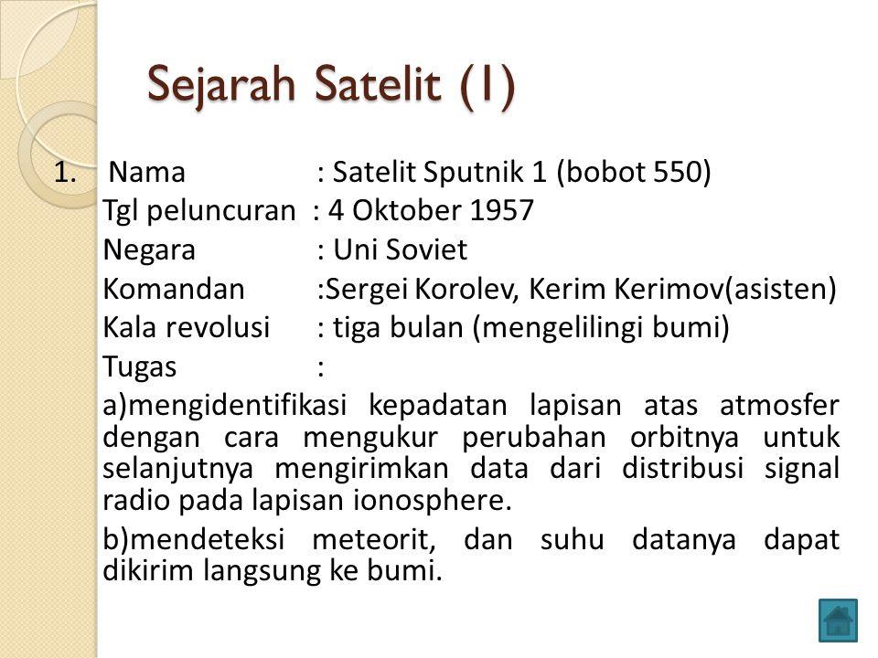 Sejarah Satelit (1)