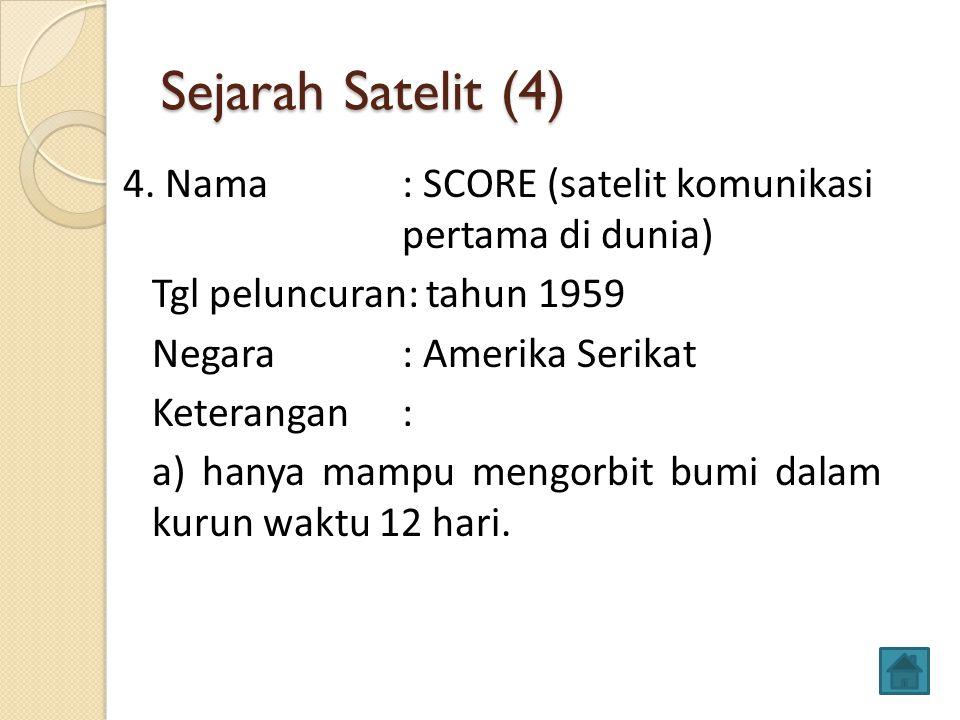 Sejarah Satelit (4)