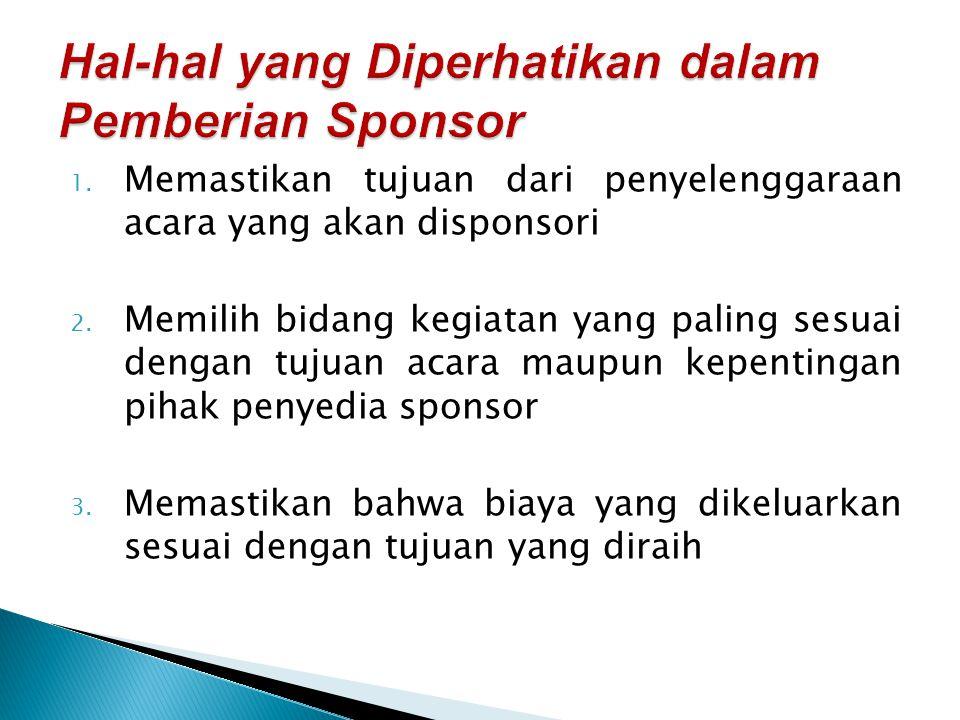 Hal-hal yang Diperhatikan dalam Pemberian Sponsor