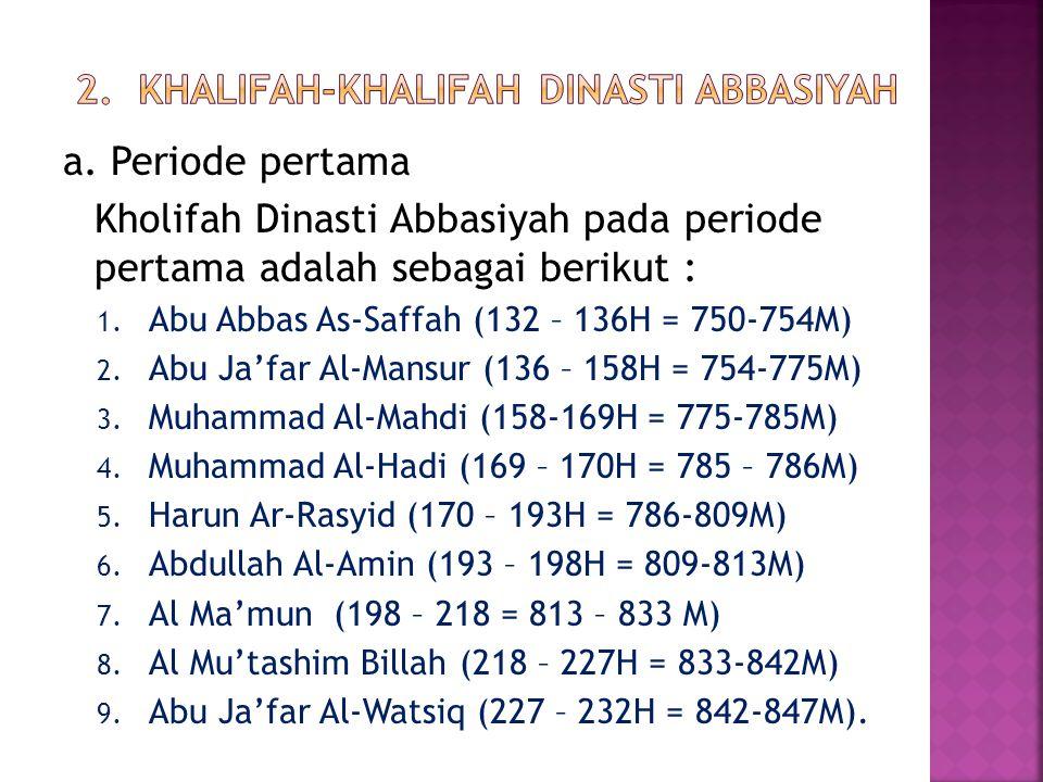 2. Khalifah-khalifah Dinasti Abbasiyah
