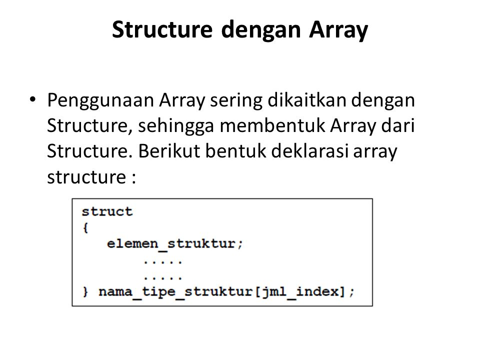 Structure dengan Array