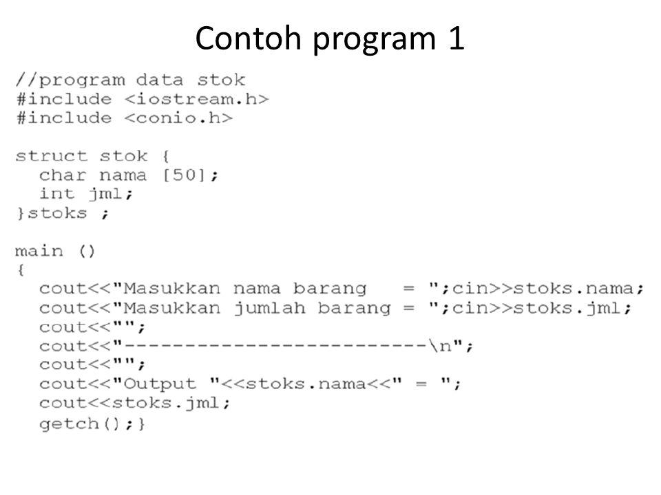 Contoh program 1