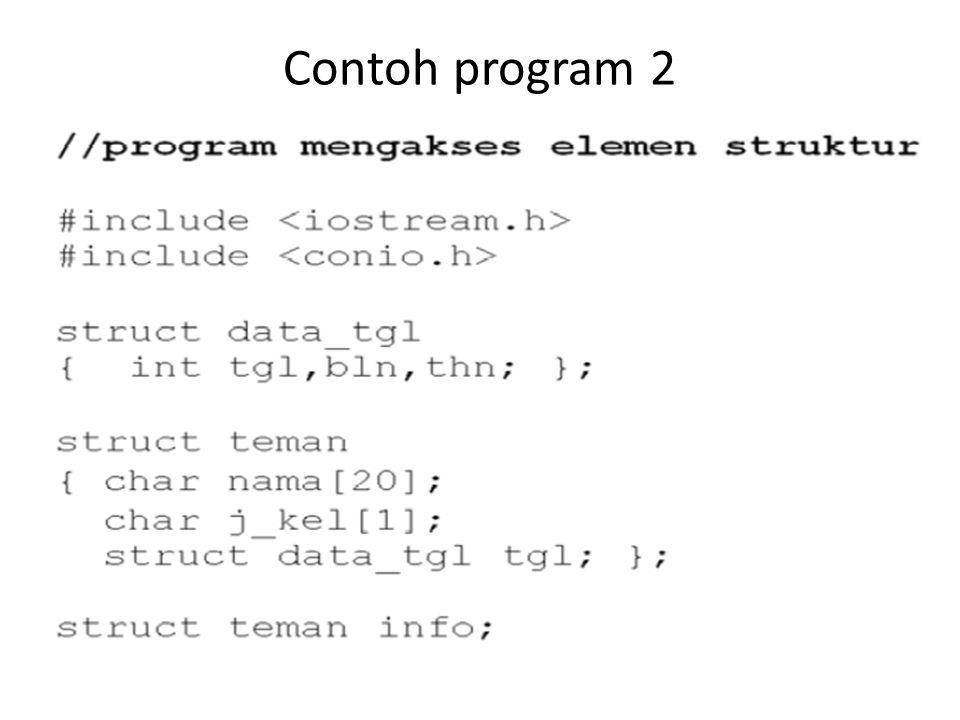 Contoh program 2