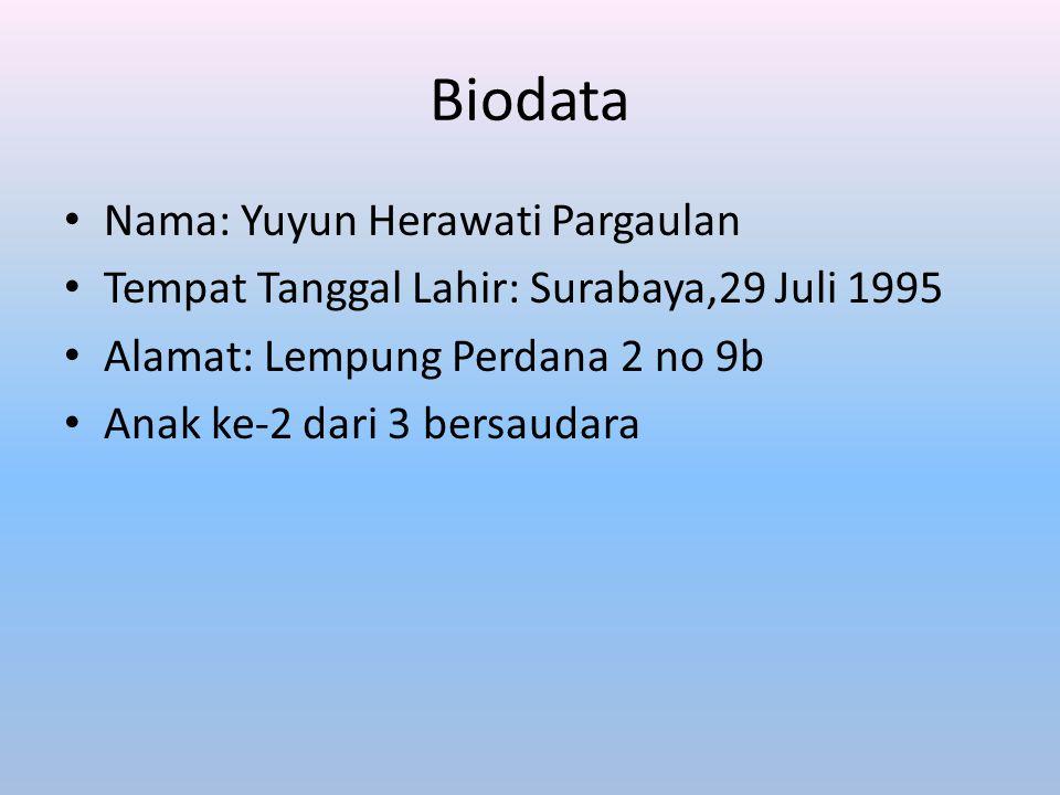 Biodata Nama: Yuyun Herawati Pargaulan
