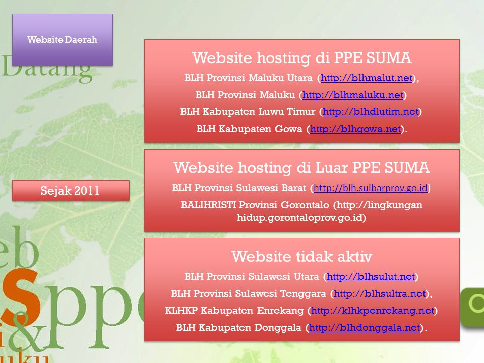 Website hosting di PPE SUMA