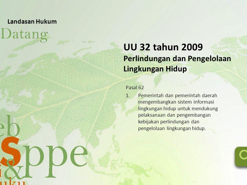 UU 32 tahun 2009 Perlindungan dan Pengelolaan Lingkungan Hidup