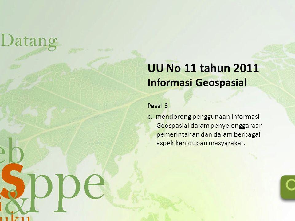 UU No 11 tahun 2011 Informasi Geospasial