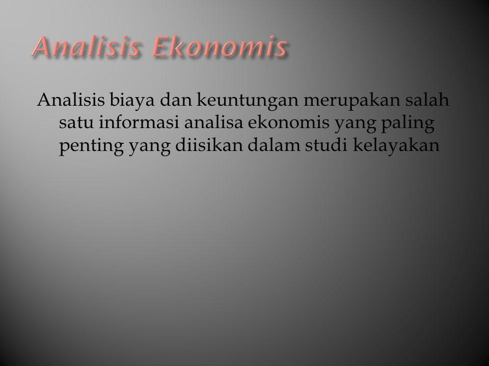 Analisis Ekonomis