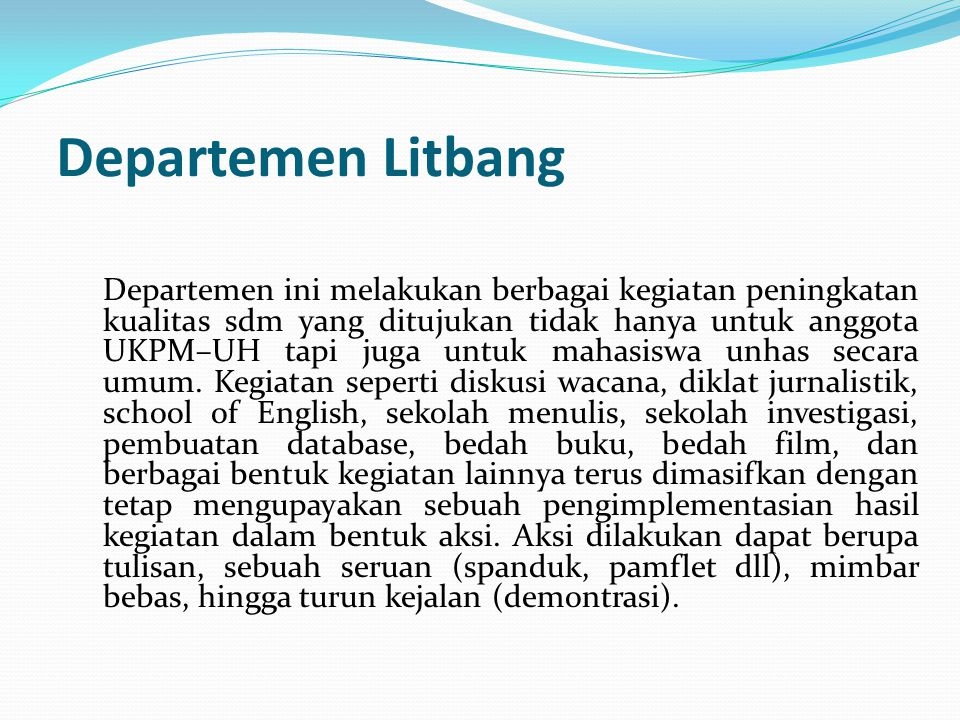 Departemen Litbang