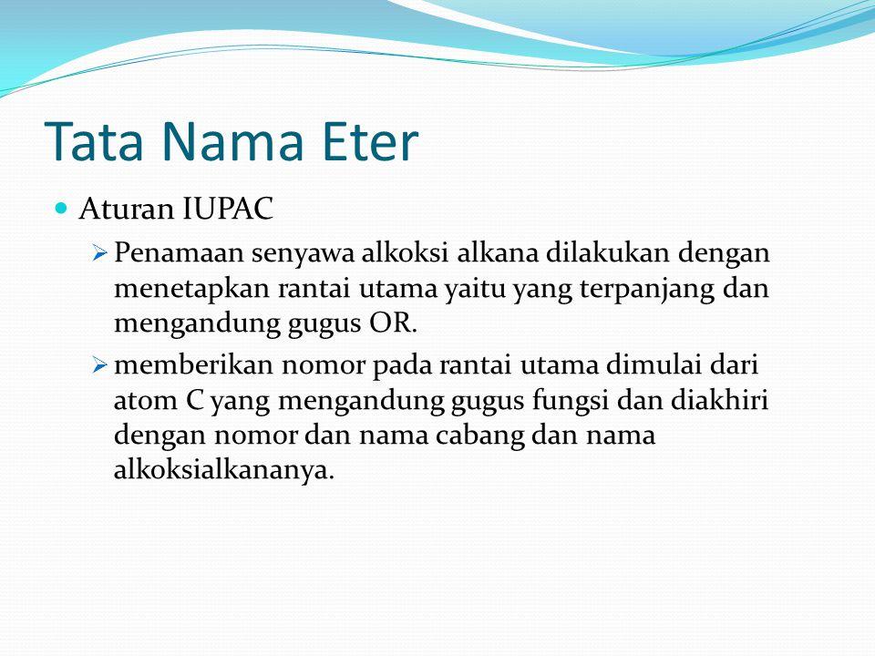 Tata Nama Eter Aturan IUPAC