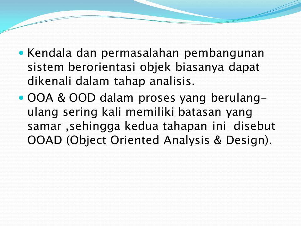 Kendala dan permasalahan pembangunan sistem berorientasi objek biasanya dapat dikenali dalam tahap analisis.