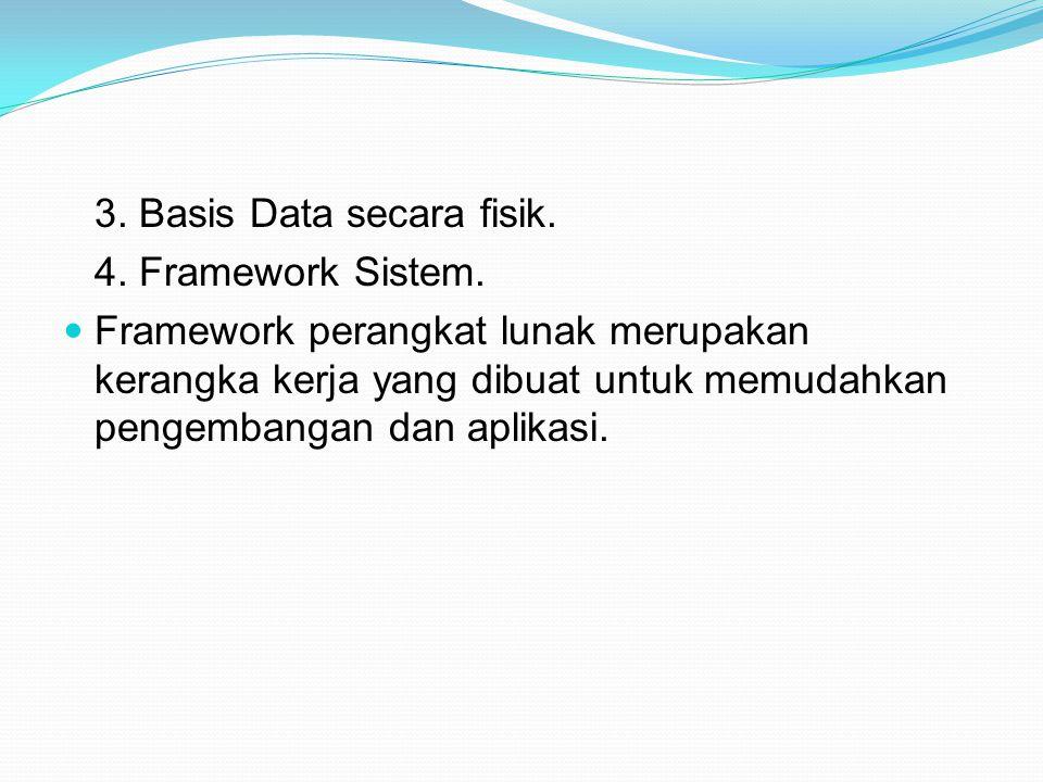 3. Basis Data secara fisik.