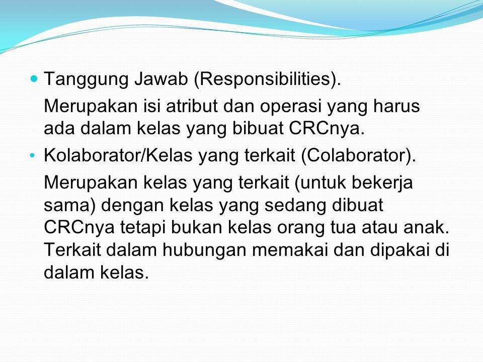 Tanggung Jawab (Responsibilities).