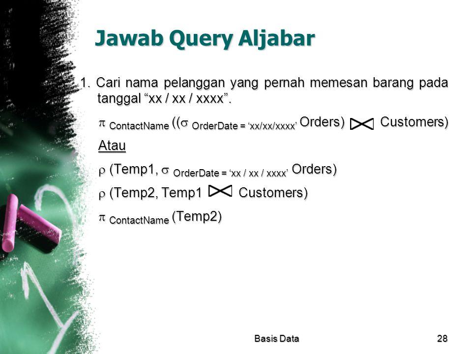 Jawab Query Aljabar
