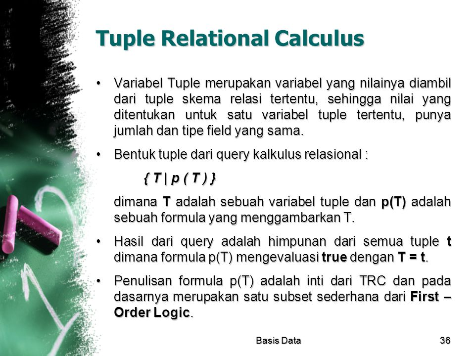 Tuple Relational Calculus