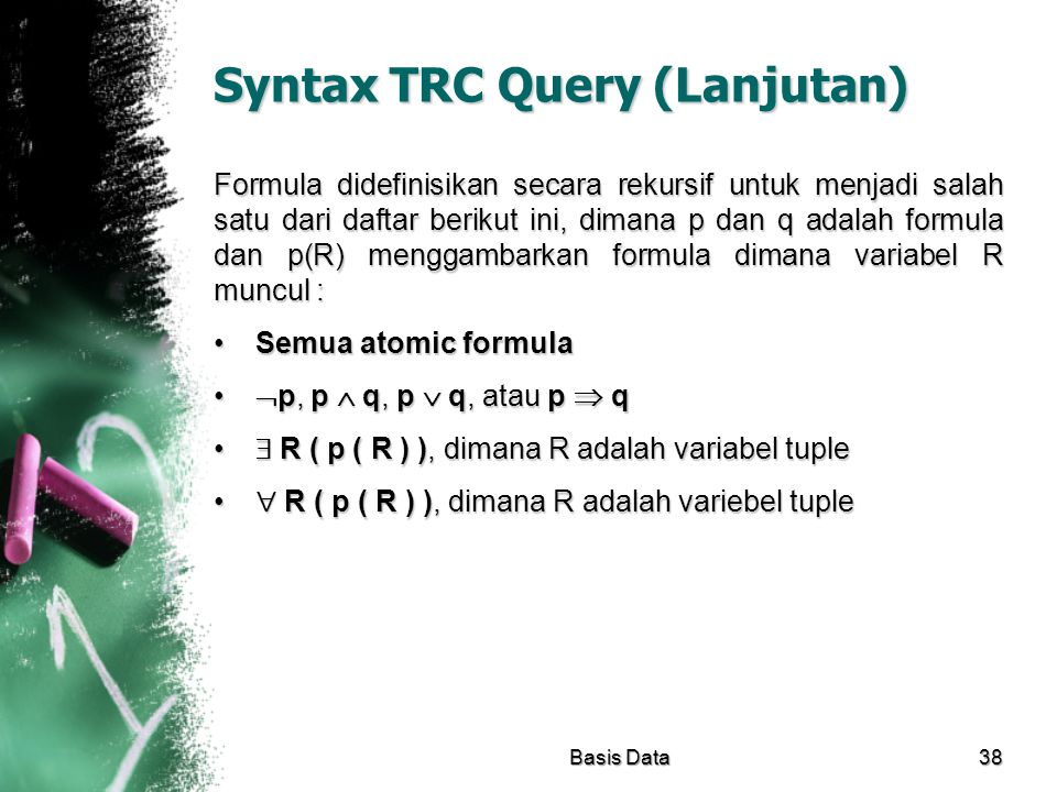 Syntax TRC Query (Lanjutan)