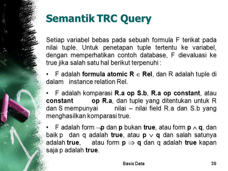 Semantik TRC Query